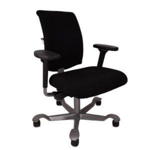 HAG Bureaustoel Tweedehands Zwart – Nieuw Gestoffeerd H05 5300