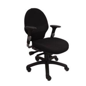 RH Bureaustoel Tweedehands – Zwart (nieuw Gestoffeerd) – Extend 100