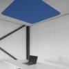 Akoestisch vierkant plafondeiland