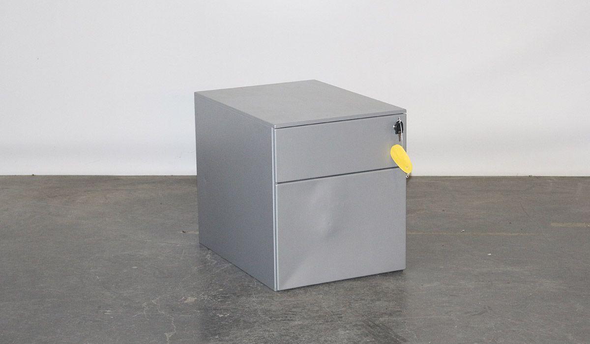 Flexoffice ladeblok aluminium hevige deuk opnieuw